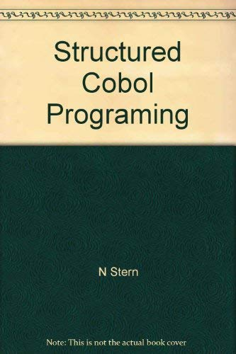 Stern: Structured Cobol Programming 5ed: Stern, Nancy B., Stern, Robert A.