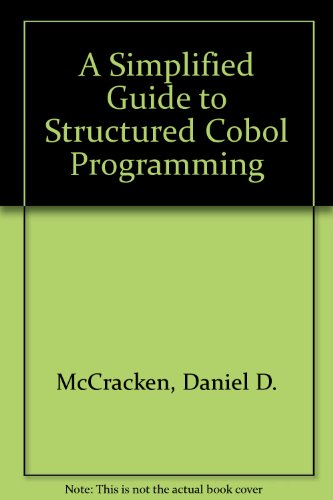 9780471610540: A Simplified Guide to Structured Cobol Programming