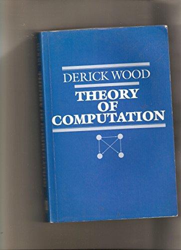 9780471613091: Theory of Computation