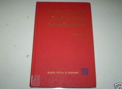 9780471613107: Social and Economic Foundations of the Italian Renaissance