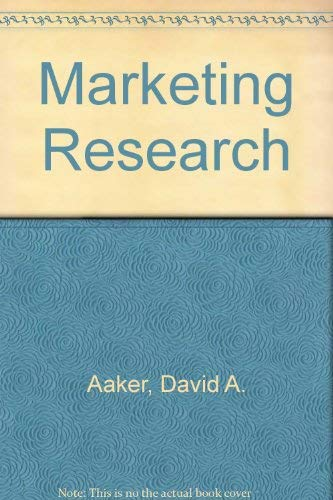 9780471613510: Marketing Research