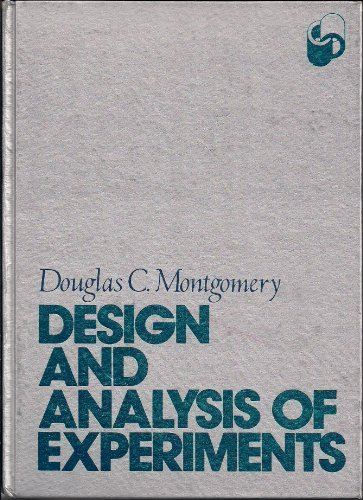 9780471614210: Design and analysis of experiments