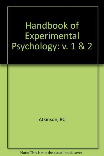 9780471616252: Stevens' Handbook of Experimental Psychology, 2 Volume Set (v. 1 & 2)