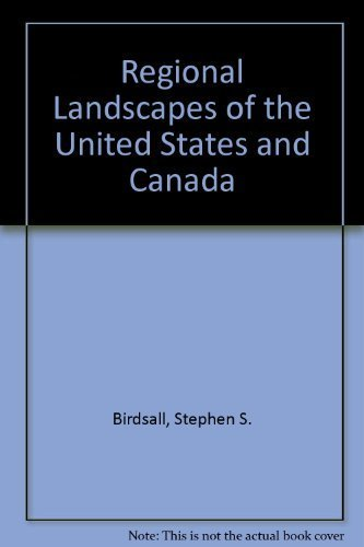 9780471616467: Regional Landscapes of the United States and Canada