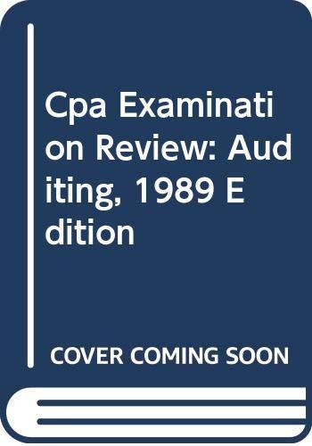 9780471616689: Cpa Examination Review: Auditing, 1989 Edition