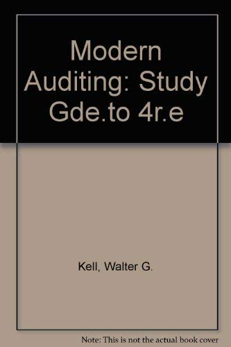 Modern Auditing: Walter G. Kell