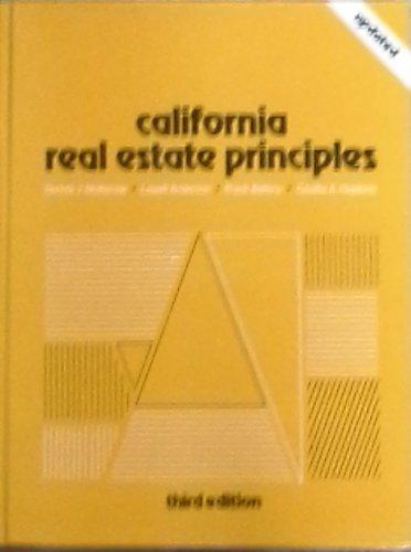 9780471621409: California Real Estate Principles (John Wiley Series in California Real Estate)