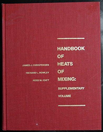 9780471624264: Handbook of Heats of Mixing, Supplementary Volume