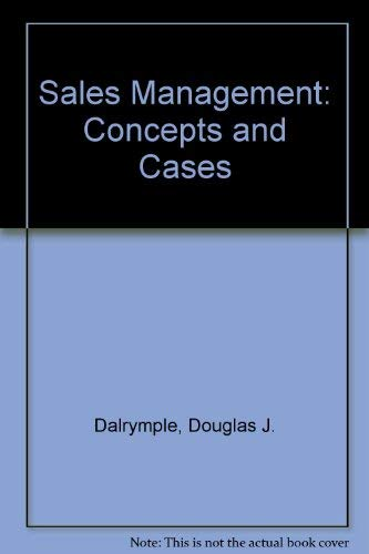 9780471624950: Sales Management: Concepts and Cases