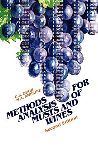 9780471627579: Methods Analysis of Musts and Wines, 2nd Edition
