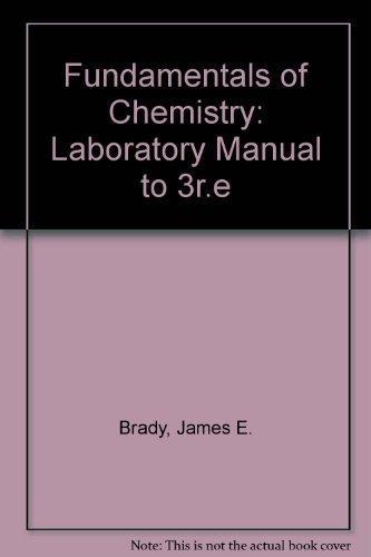 Fundamentals of Chemistry: Laboratory Manual to 3r.e: Beran, Jo A.,
