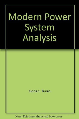 9780471628026: Modern Power System Analysis