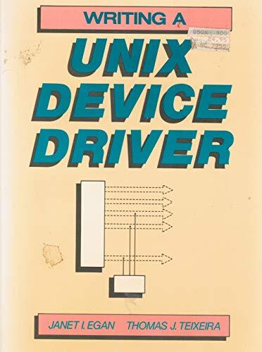9780471628590: Writing a UNIX Device Driver