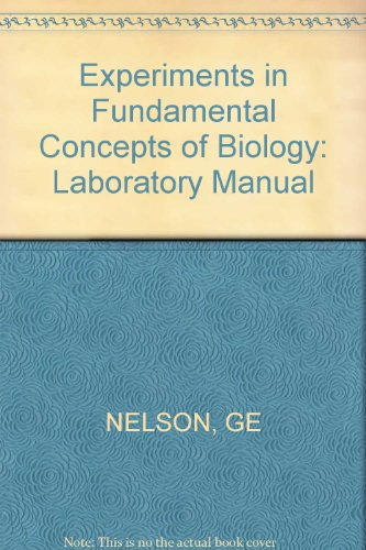 9780471631453: Experiments in Fundamental Concepts of Biology: Laboratory Manual