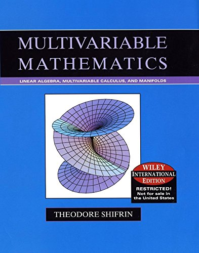 9780471631606: WIE Multivariable Mathematics Intrn Ed