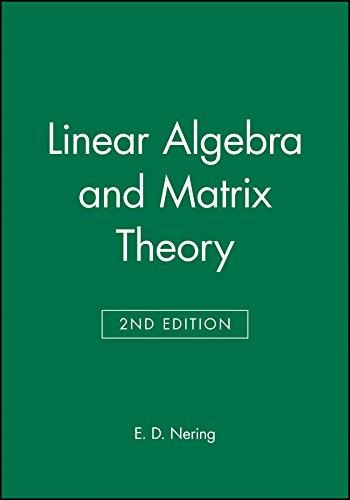 9780471631781: Linear Algebra and Matrix Theory