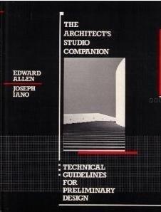 9780471632207: The Architect's Studio Companion: Technical Guidelines for Preliminary Design