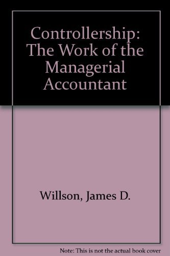 9780471632788: Controllership: The Work of the Managerial Accountant