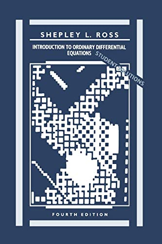 9780471634386: Introduction to Ordinary Differential Equations, Student Solutions Manual, 4th Edition