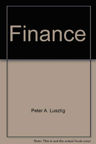 Managerial Finance in a Canadian Setting 5E: Lusztig, Peter A.