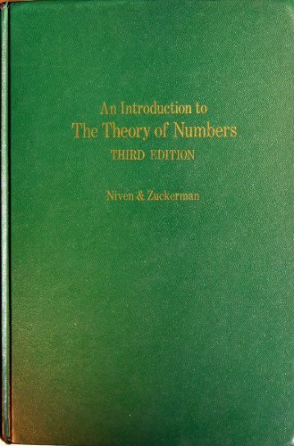 9780471641544: Introduction to the Theory of Numbers