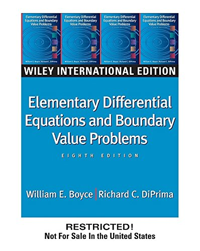 9780471644545: WIE Elementary Differential Equations and Boundary Value Problems