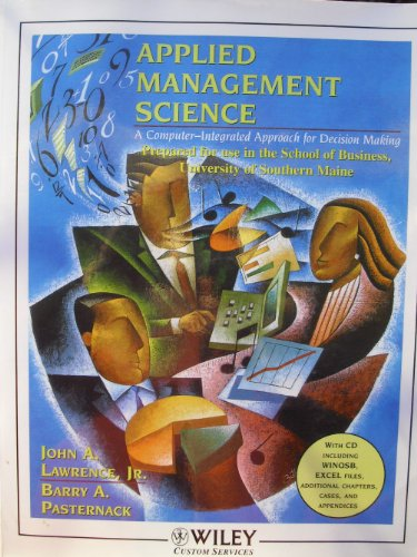 Applied Management Science (University of Southern Maine): Lawrence Pasternack, John