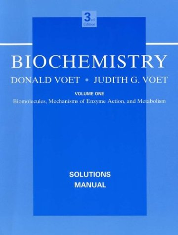 9780471646747: Biochemistry, Biomolecules, Solutions Manual(for chapters 1-29 only) (Volume 1)