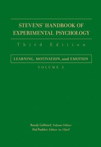 9780471650164: Stevens' Handbook of Experimental Psychology: Learning, Motivation, and Emotion