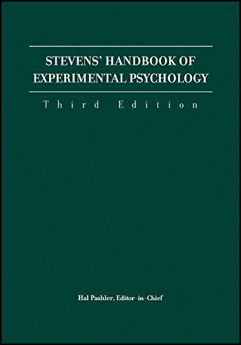 Stevens Handbook of Experimental Psychology: Stevens Handbook of Experimental Psychology 3e 4V Set ...