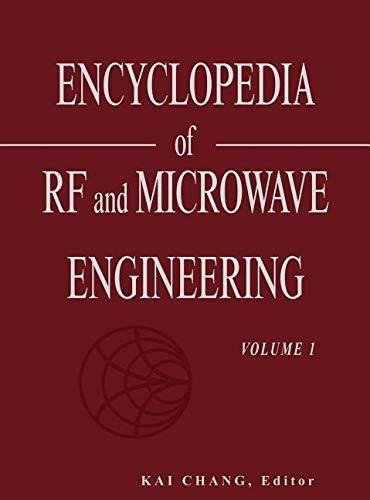 9780471654490: Encyclopedia of RF and Microwave Engineering, Volume 1