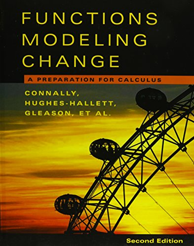9780471654841: Functions Modeling Change, Textbook and Student Study Guide: A Preparation for Calculus