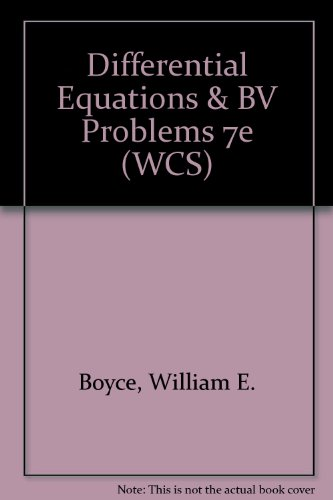 Differential Equations & BV Problems 7e (WCS)