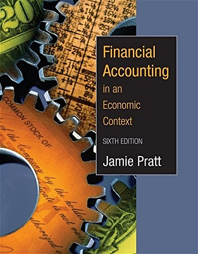 Financial Accounting in an Economic Context (0471655287) by Pratt