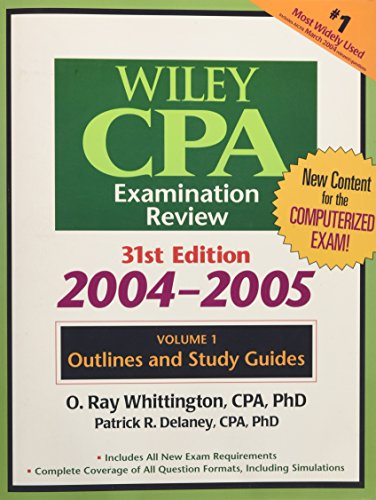 9780471656289: Wiley CPA Examination Review, Outlines and Study Guides (Wiley Cpa Examination Review Vol 1: Outlines and Study Guides) (Volume 1)