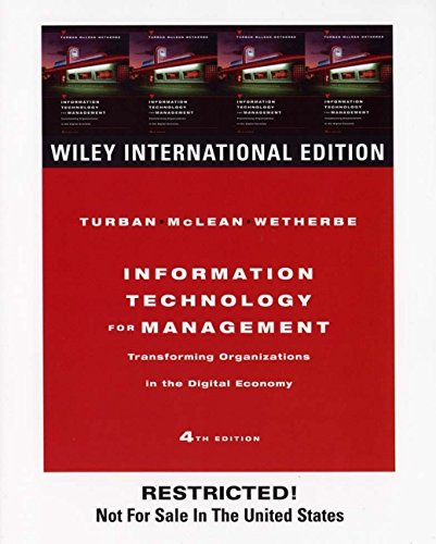 9780471656661: Information Technology for Management: Transforming Organizations in the Digital Economy
