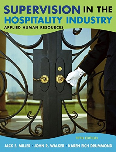 9780471657484: Supervision in the Hospitality Industry: Applied Human Resources