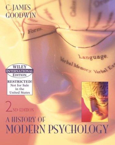 9780471658191: A History of Modern Psychology
