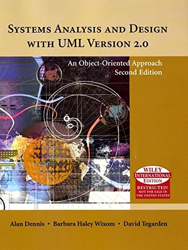 9780471659204: Systems Analysis and Design with UML - International edition