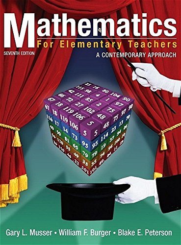 9780471662938: Mathematics for Elementary Teachers: A Contemporary Approach