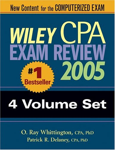 9780471668473: Wiley CPA Examination Review 2005, 4-Volume SET (Wiley CPA Examination Review (4v.))