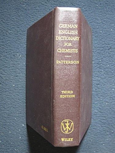 9780471669906: German-English Dictionary for Chemists
