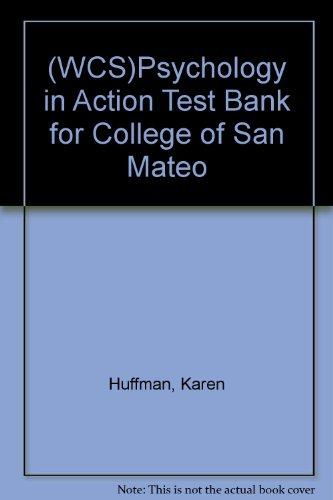 9780471671657: (WCS)Psychology in Action Test Bank for College of San Mateo