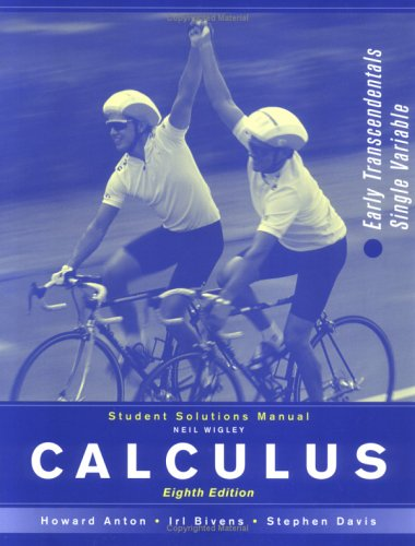 calculus early transcendentals 8th edition solutions manual pdf