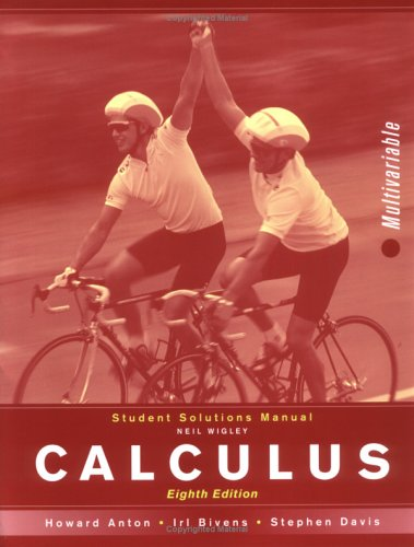 9780471672128: Calculus, Student Solutions Manual: MV: Multivariable