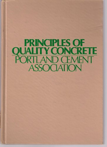 9780471674344: Principles of Quality Concrete