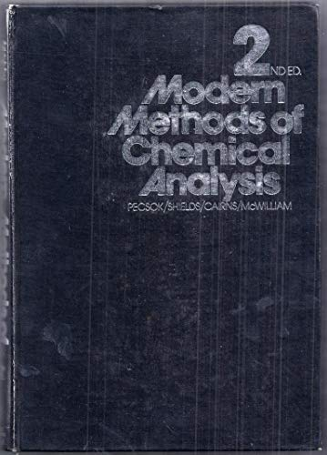 9780471676621: Modern Methods of Chemical Analysis