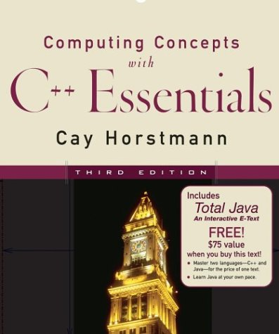 9780471679639: Computing Concepts with C++ 3rd Edition with WeL Total JavaCD Metrowerks Codewarrior 8 and Sleeve for Horstmann CCC++ 3rd Edition Set