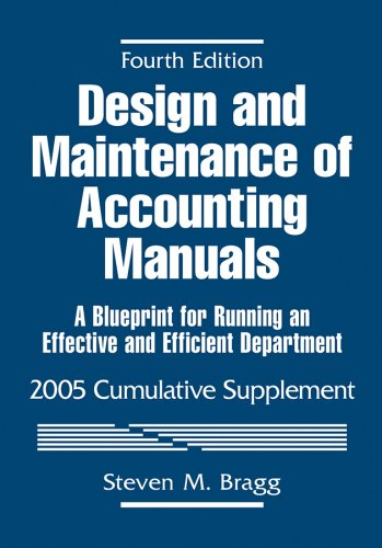 9780471679844: Design and Maintenance of Accounting Manuals, 2005 Cumulative Supplement: A Blueprint for Running an Effective and Efficient Department