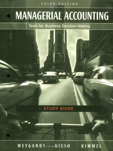 9780471680345: Study Guide to accompany Managerial Accounting: Tools for Business Decision Making, 3rd Edition